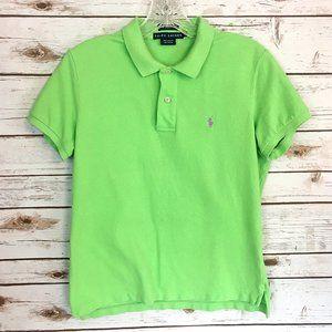 Ralph Lauren Green Skinny Polo Shirt